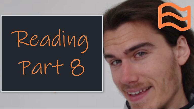 CAE Reading Part 8