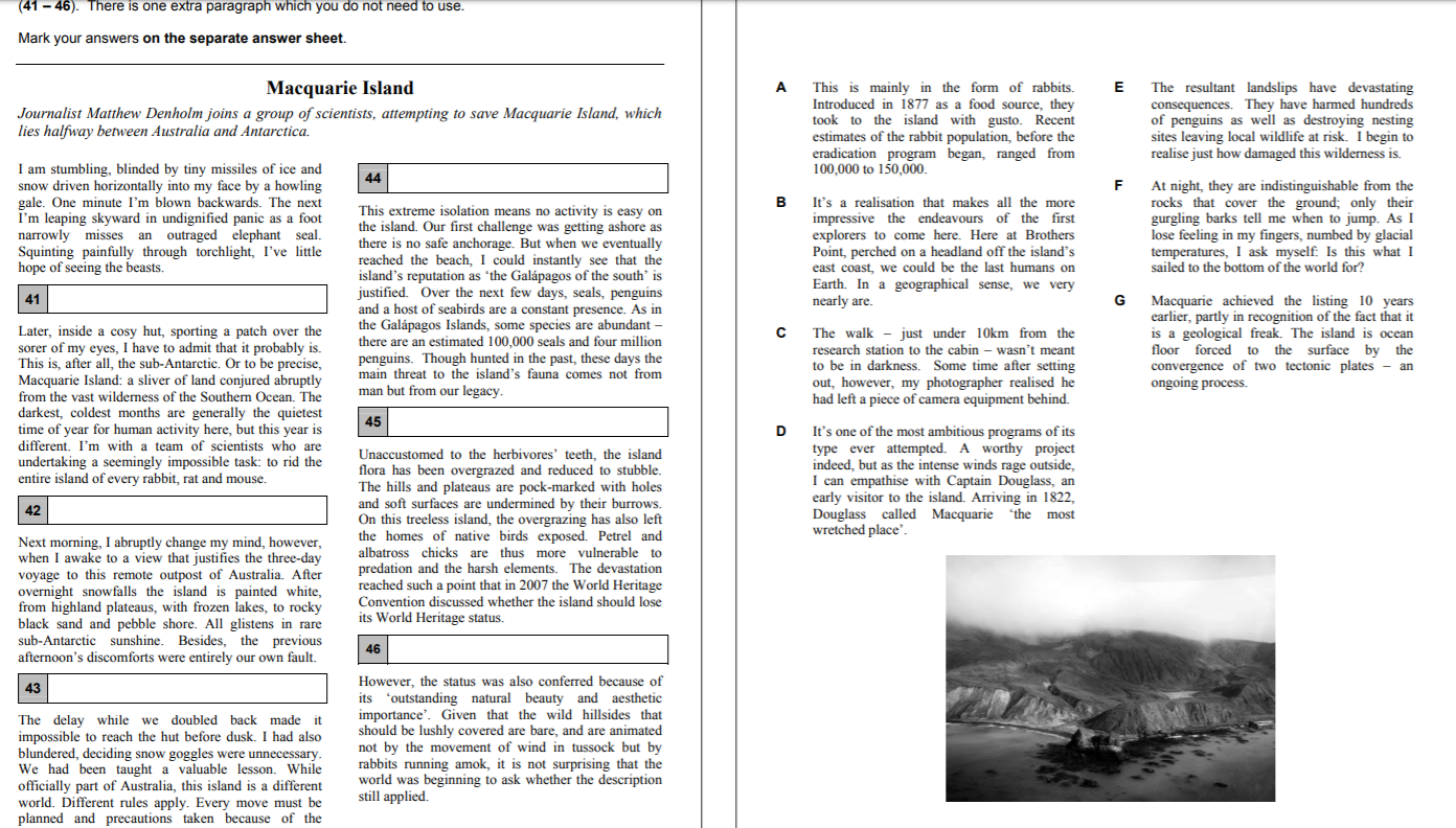 CAE reading part 7