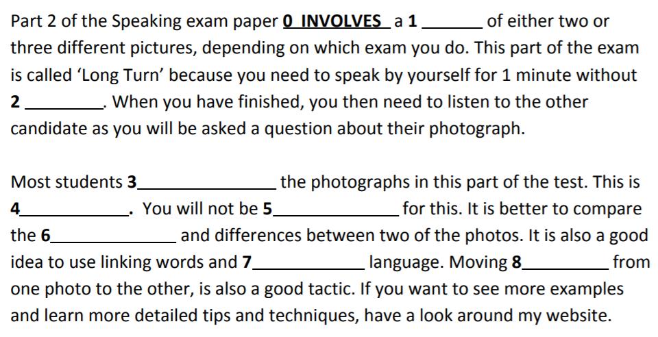 CAE Use of English Part 3